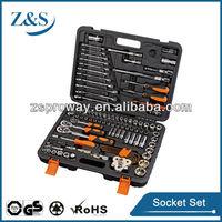 120 pcs socket set/extension ratchet handle with universal multi socket