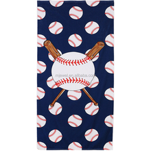 Factory wholesale monogrammed baseball rectangle beach towels