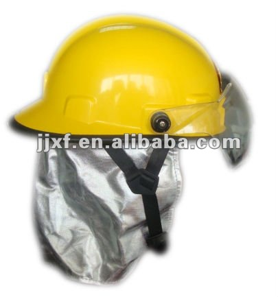 Firefighter helmet with visor & glass faiber & polycarbonate visor