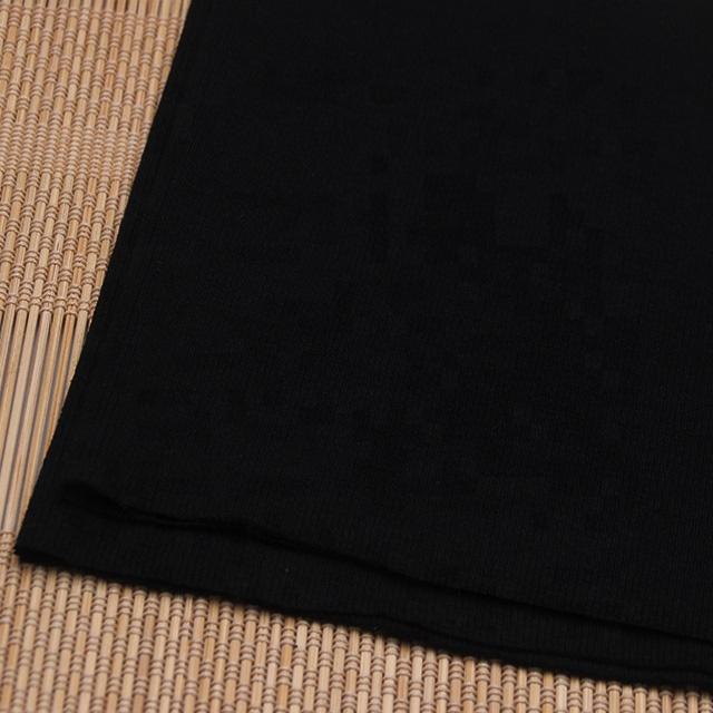 Black 2x2 stretch rib knit collar fabric wholesale by kg