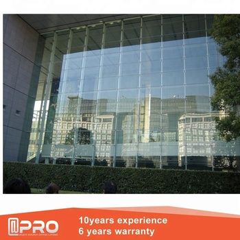Exterior Gl Panel Frameless Curtain Wall And Panels