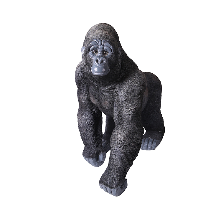 Outdoor-Deko in Lebensgröße Resin Gorilla Statue