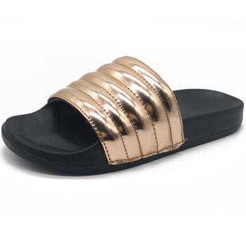 512340c310b Glossy Embossed Pu Upper Slides Eva Women Sandals Summer ...
