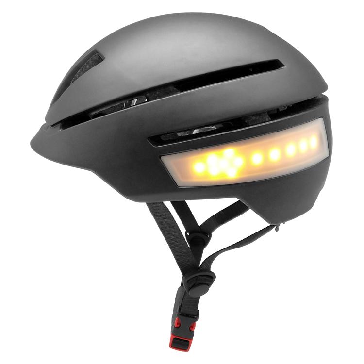 In-mold progressive smart LED bike helmet