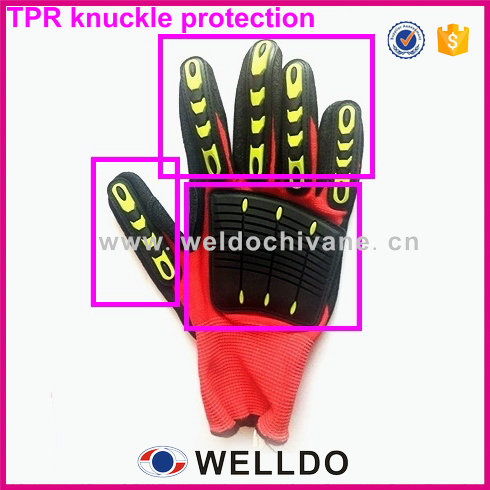High quality TPR knuckle protection for work glove