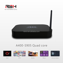 2017 4K Android smart tv box S905 Kodi preinstalled OEM customize IPTV set top box Andriod media player