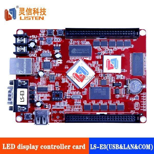 new product LISTEN E3 xx photos P10P16 led sign controller WITH USB and LAN and RS232