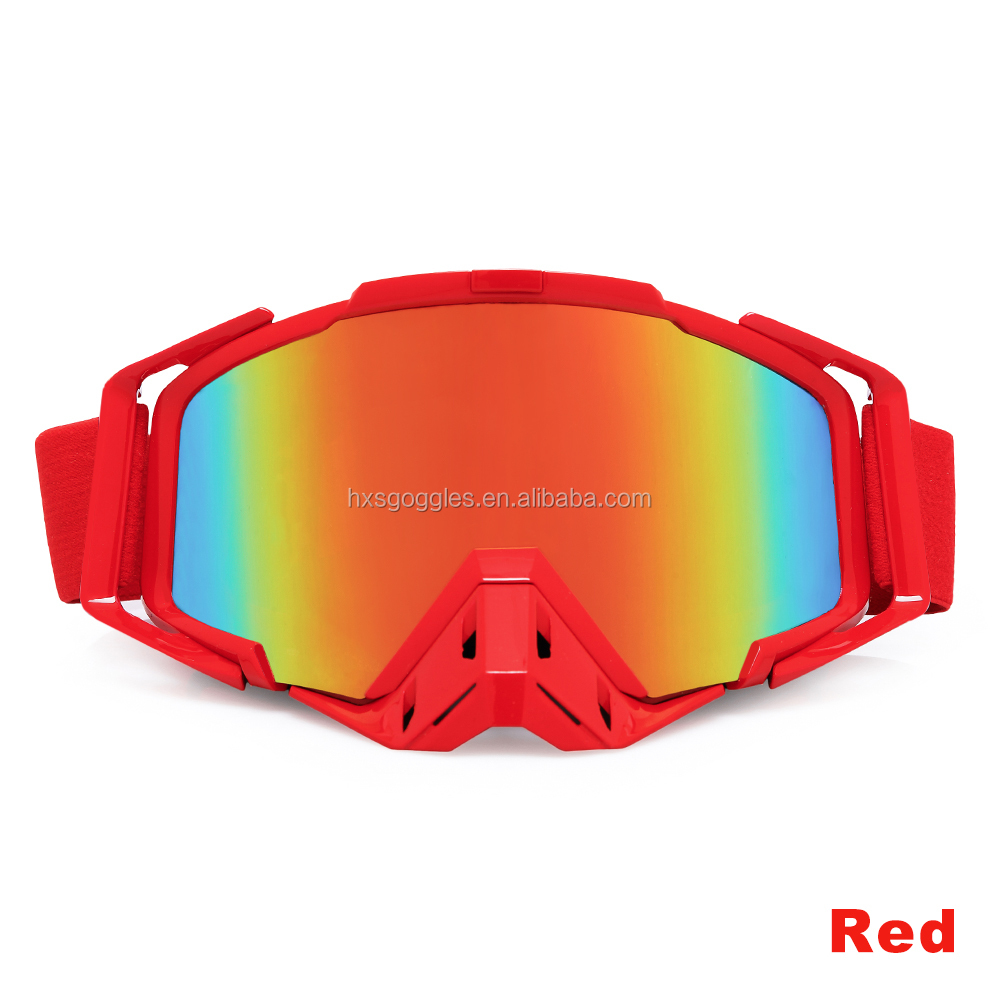 Custom Logo Tpu Frame Tear Off Motocross Goggles