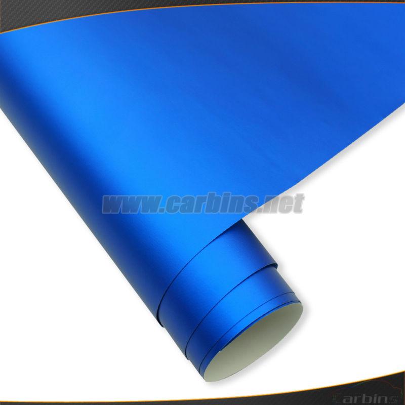 chrome mat bleu m tallis vinyle de voiture wrap film sans bulle carrosserie autocollant. Black Bedroom Furniture Sets. Home Design Ideas