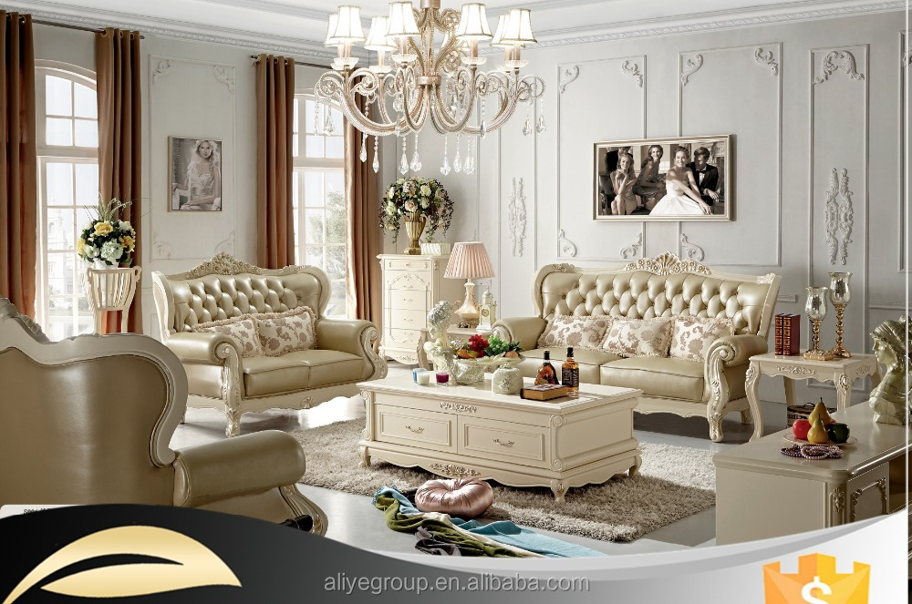 ZL03- antique french style furniture solid wood sofa sets