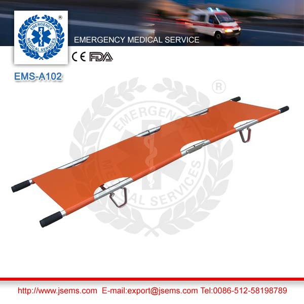 EMS-A102 Aluminum Alloy Emergency Rescue 2 Folding Stretcher