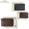 Exquisite custom high quality maganetic leather money clip wholesale