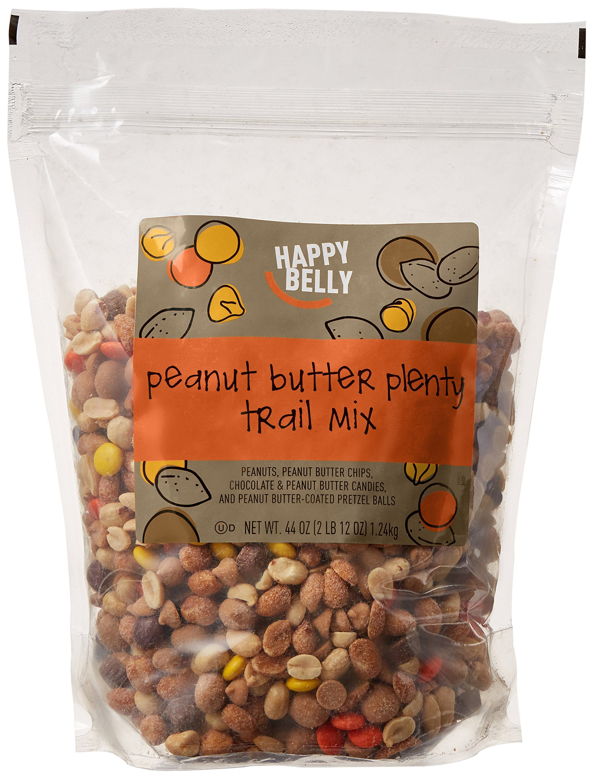 Amazon Brand - Happy Belly Peanut Butter Plenty Trail Mix, 44 ounce