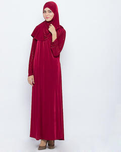 AW003 arabic women wear with long jersdey hijab abaya dress