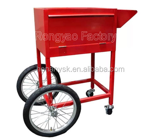 Commercial Electric Popcorn Making Machine Maker With Trolley Cart 2 Cartons Package