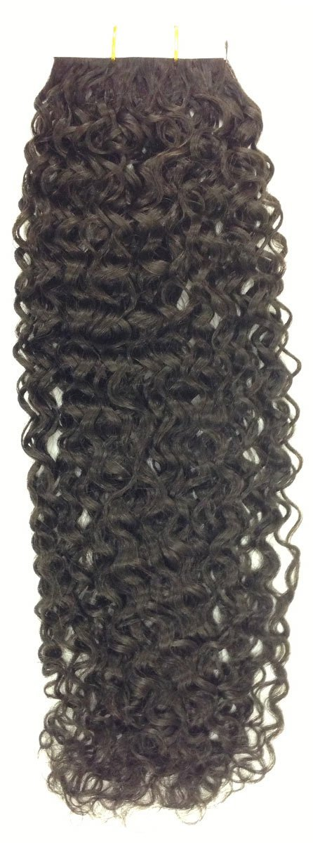 Seamless Hair Extensions Color: 2 Dark Brown - Curly