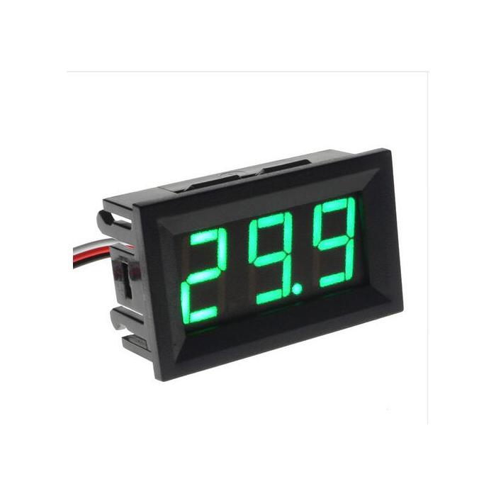 DC 5V-120V 2 fils voltmètre numérique DEL Display Panel Volt Voltage Tester Meter