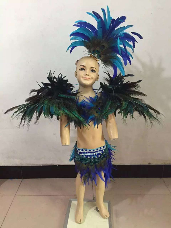 fashion Carnival costume showgirl Feather headdress feather backpieces Feather skirt peacock feather and turcky feather costume