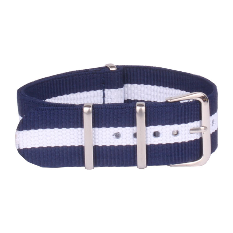 2015 Newest nato Watchband 16mm Navy White Navy Nato Nylon Watch Strap Adjustable Size Watchbands Accesorios Relojes