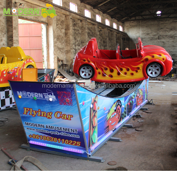 Amusement park Single Wave sliding flying car rides for sale