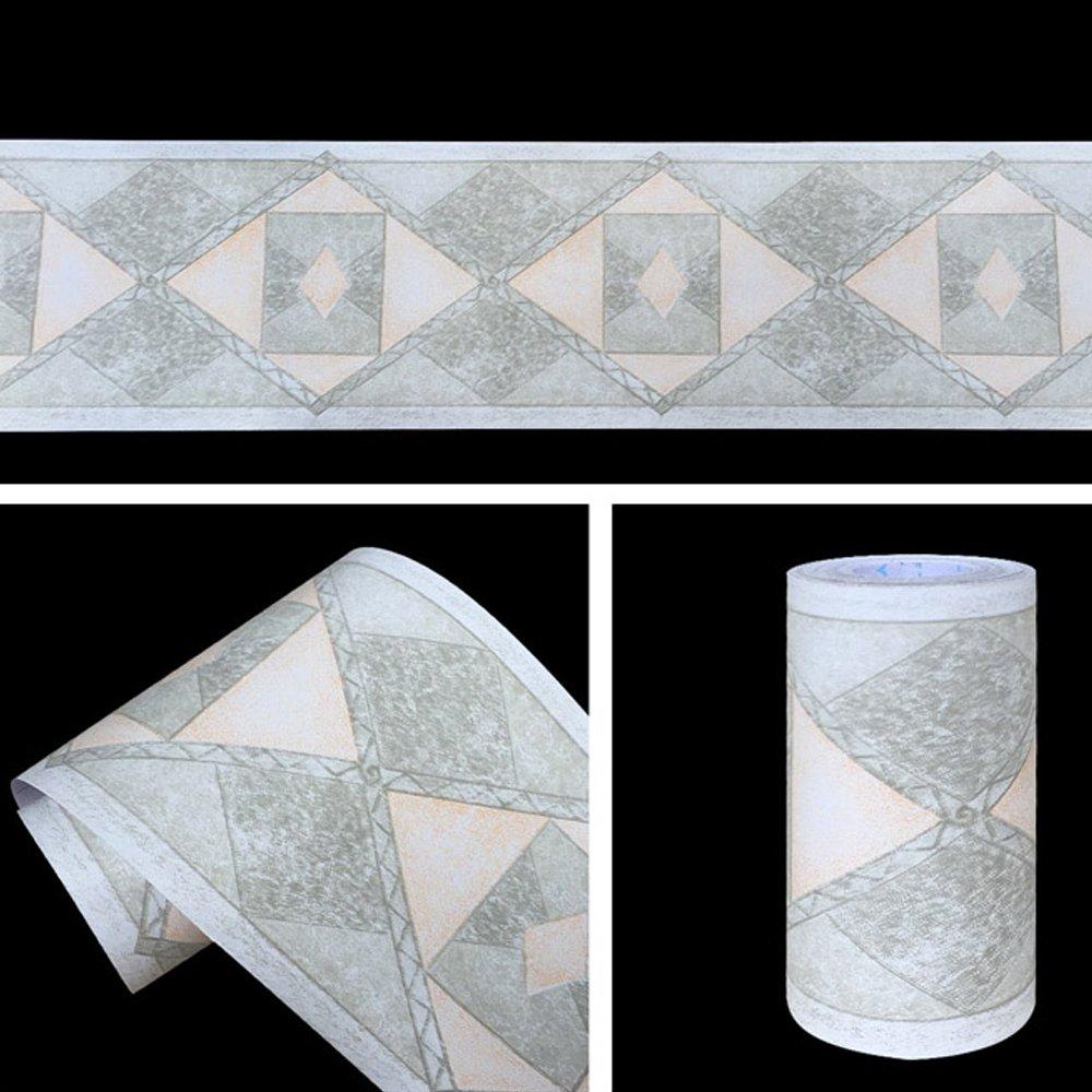 cheap geometric wallpaper border, find geometric wallpaper bordersimplelife4u geometric design diamond wallpaper border peel \u0026 stick wall covering kitchen bathroom bedroom tiles decor