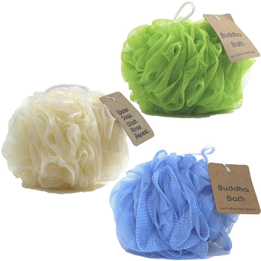 Paars netto bad spons body douche spons loofah netto spons
