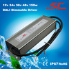 12v 24v 36v 48v Dali dimming waterproof constant current led driver dimmable 150w