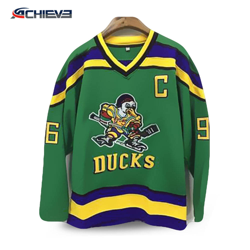 Custom Embroidered Mighty Ducks Hockey Jersey d10064270b8