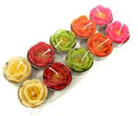 Tea light, tealigfht, T-Light flower candle - DAHLIA