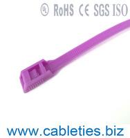 Double lock self-locking Plastic zip binding ties cable ties pa66 Nylon