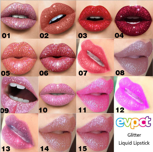 Dropshipping supplier Hot selling Glitter Liquid Lipstick Long Lasting Waterproof Lip Gloss 15 colors фото
