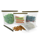 2 Large & 2 Medium Premium Eco Friendly Meal Prep Bag Reusable Silicone Food Storage Bags
