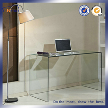 Alibaba bent glass console table with SGS certificates