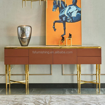 MOMODA Light luxury Italian post-modern console table for living room