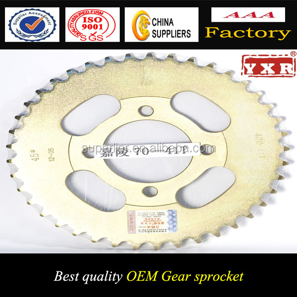 sprocket for motorcycle spare parts, heat treatment surface for the good qiality sprocket