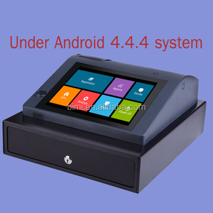 pos system with software under android 4.4.4 system thermal printer touch screen cash register