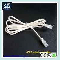 Home appliance telephone euroset rj11 unshielded telephone cable wholesale price