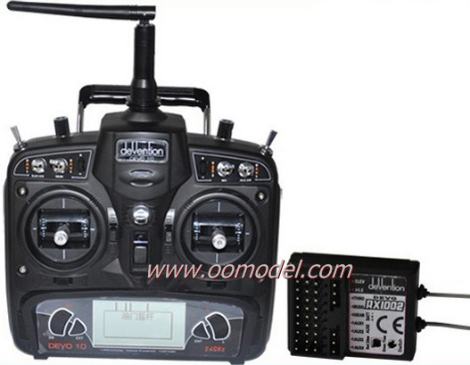Walkera Devo 10 Transmitter 10 channel TX with RX1002 Receiver free shipping with tracking