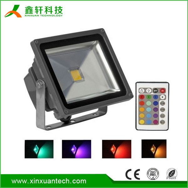 10W 20W 30W 50W outdoor LED Flood light/LED Projector/rgb led floodlight remote control