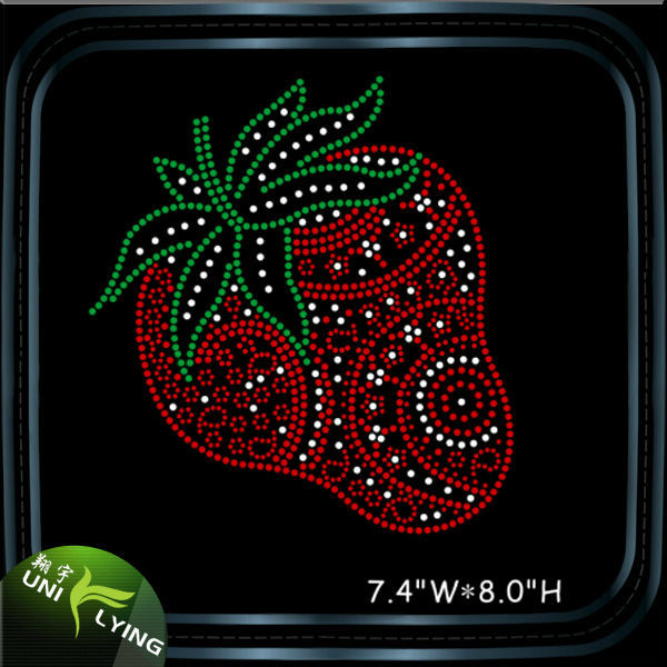 2016 Factory Colorful Fruit Motif iron on rhinestone sheet For Garment