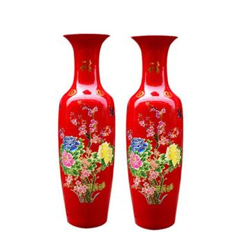 Ws 1 2m China Porcelain Exquisite Red Tall Floor Vase Buy Tall