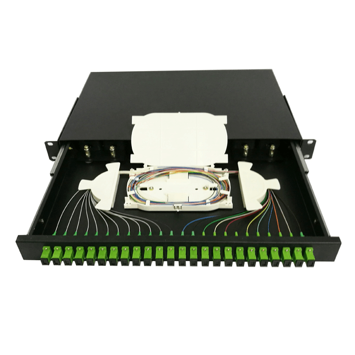 FTTH 12-24 core SC/FC/ST/LC rack mount Splicing fiber Optic patch panel/Termination Box/ODF