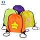 Wholesale promotional oem eco-friendly clear kids strong custom printed 210d polyester drawstring backpack bag