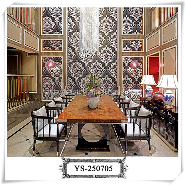 New design Damascus pattern bedroom wallpaper home decoration