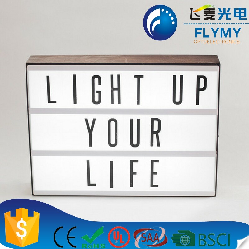 Customisable Night Light Box Lightbox/acrylic Cinematic Cinema Film Led Light Box