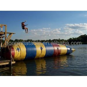 Crazy inflatable water catapult blob water sport toy, water blob jump, inflatable water blobs for sale