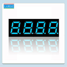 1 Inch 4 Digits Blue Mini 7 Segment LED Display
