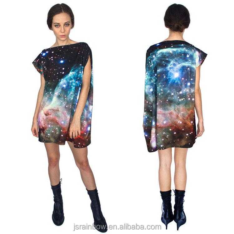 1842e2f8e 2016 Nuevo modelo digital imprimir corto verano casual vestidos para las  mujeres
