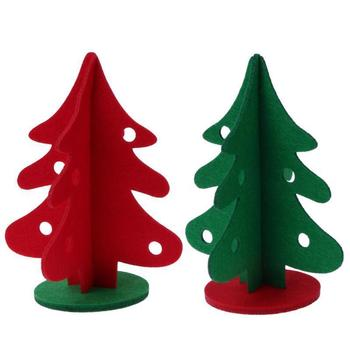 3d felt christmas tree table xmas decoration ornaments diy desk festival party decor