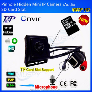 1.3MP 960P SD Card Slot Hidden Mini IP Pinhole Camera With Microphone Video&Audio P2P Onvif